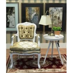 Cadeira Luís XV Dourada com assento solto