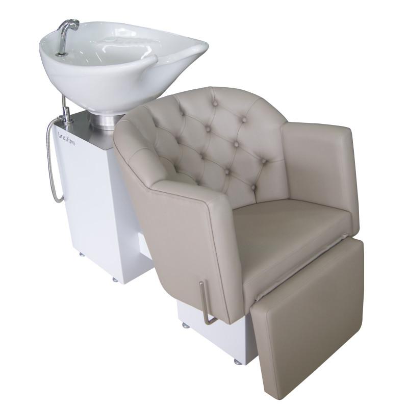 Lavatório Platinum Metalic com apoio de pernas reclinável